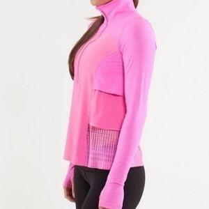 Lululemon Side Ruffle Lightweight Long Sleeve Pink